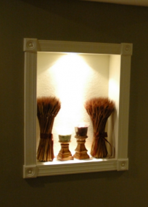 basement ideas art niche small