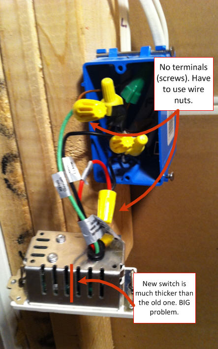 install a light switch installation - hooked up