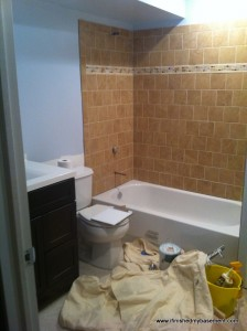 bathroom tile - shower surround and flooring