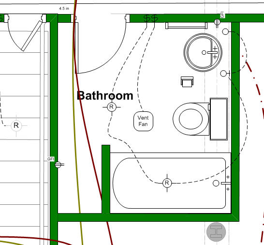 Basement bathroom design ideas 3 things i wish i 39 d done for Bathroom ideas layout