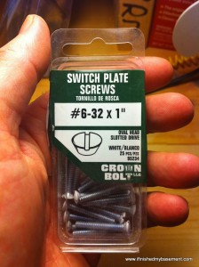 extra long light switch cover screws