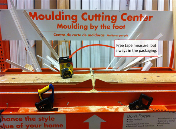 finishing a basement - moulding cut station