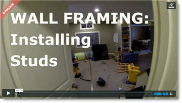 wall framing installing studs for your basement