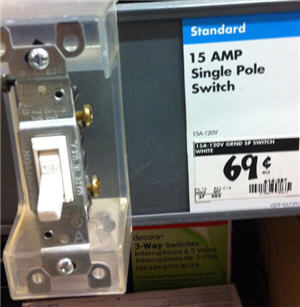 light switch for 69 cents