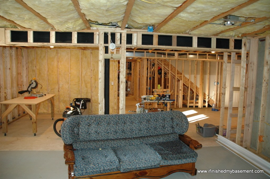 unfinished attic storage ideas - Framing Basement Walls Design Preperation and Execution
